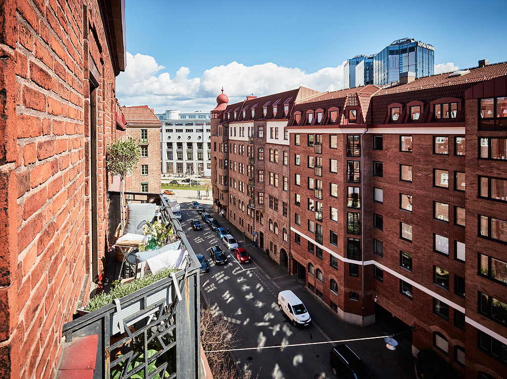 Widok z balkonu na inne budynki