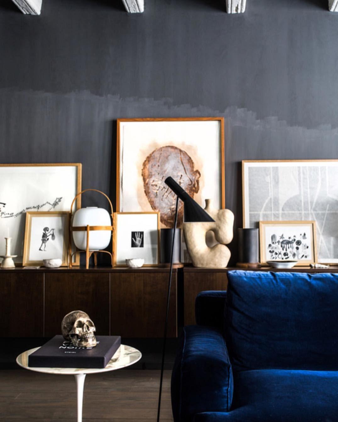 Ciemna ściana dekoracje