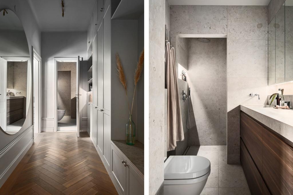 Łazienka z podwieszaną toaletą