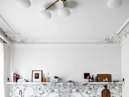 Kuchnia z marmurowym blatem