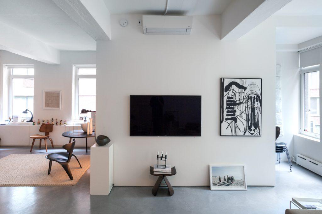 Dekoracja ściany z telewizorem