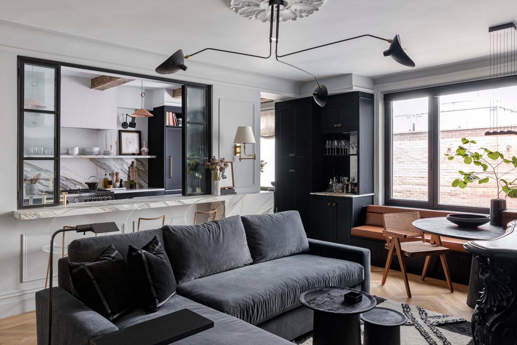 Mieszkanie w stylu paryskim z przeszkleniem