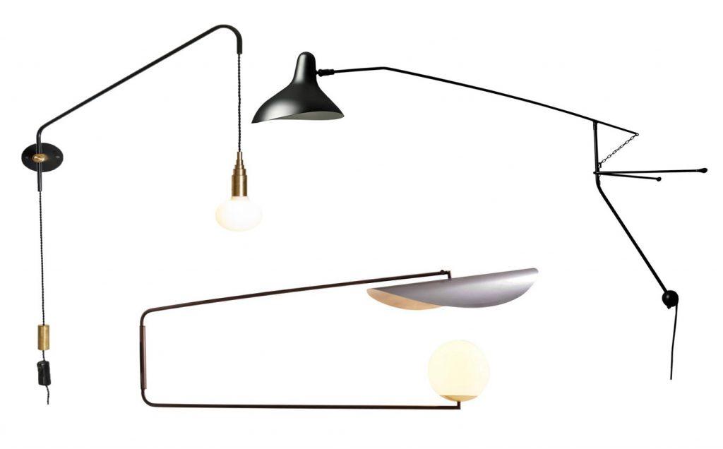 Designerskie lampy kinkiety na wysięgniku