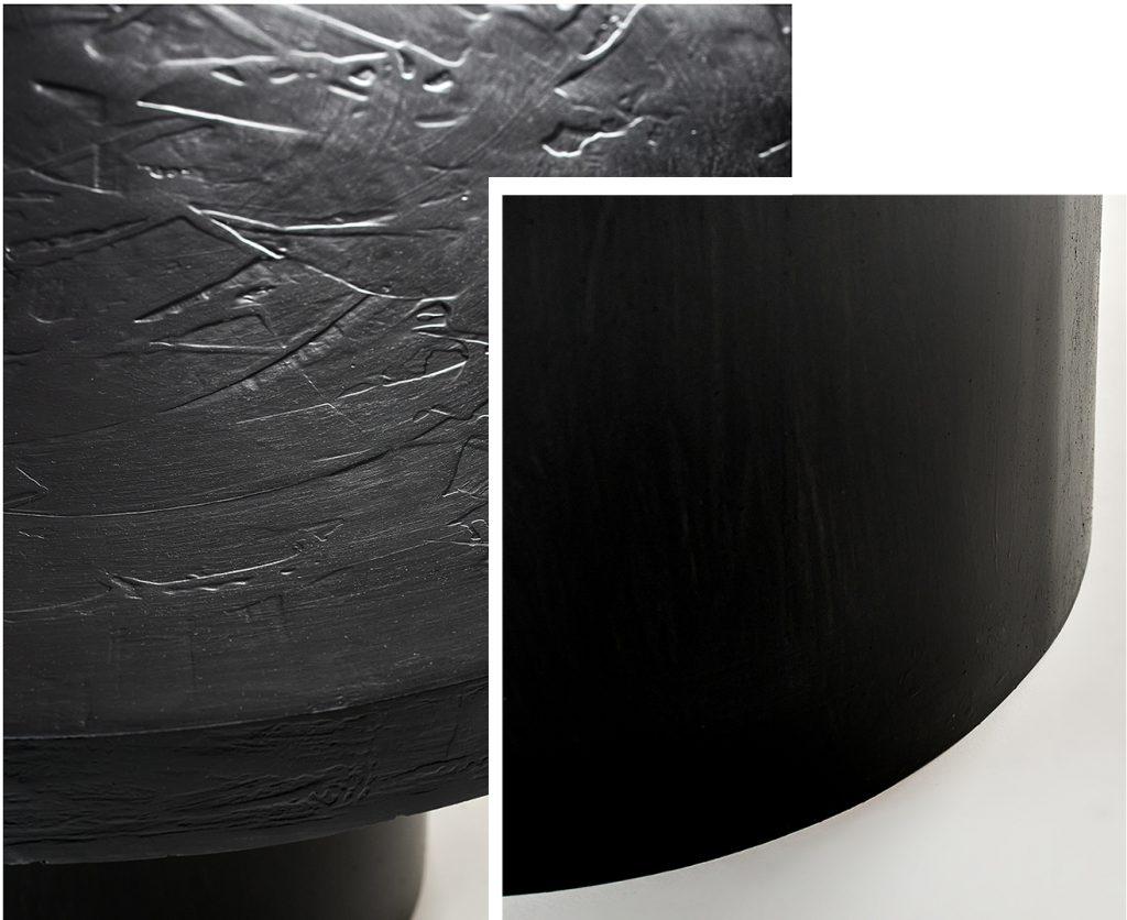 Czarny stolik kawowy ręcznie robiony