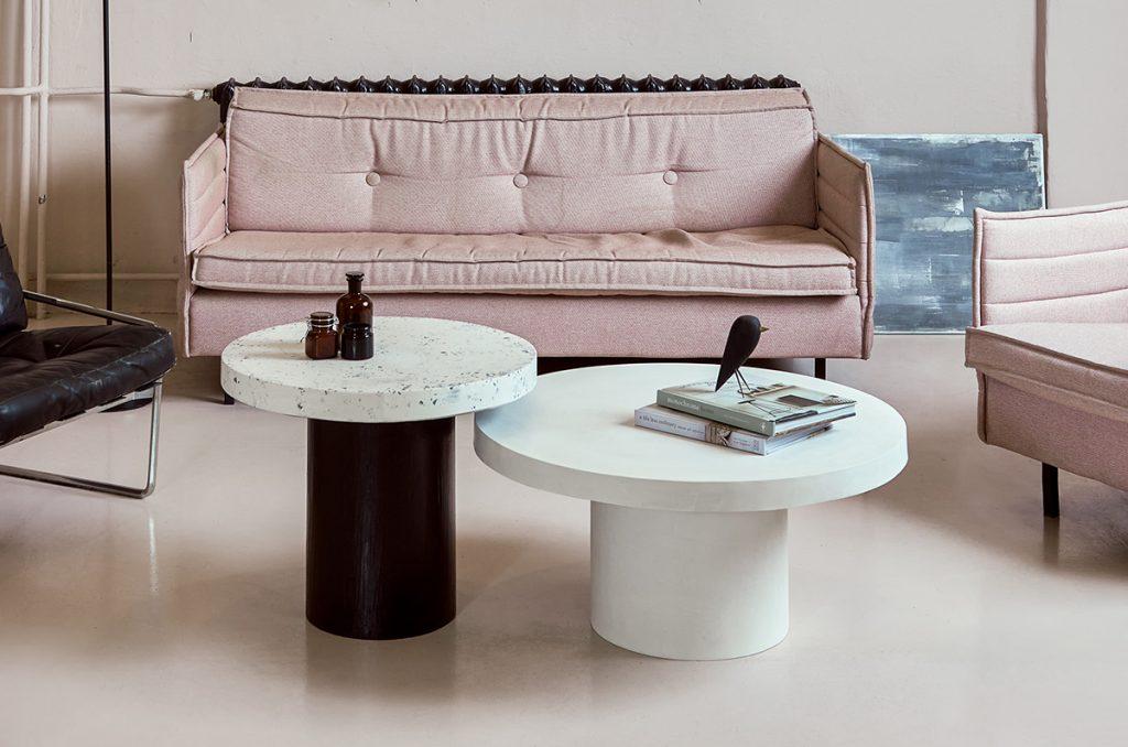 Designerskie stoliki kawowe biało czarne