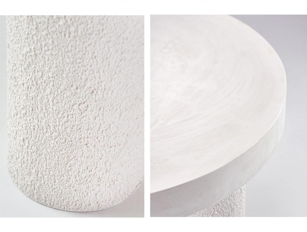Ręcznie robiony biały stolik kawowy