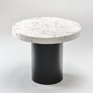 Biało czarny stolik lastryko