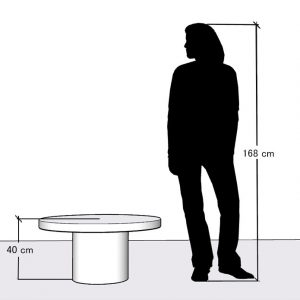 Wysokość dużego stolika kawowego 40 cm wysokości