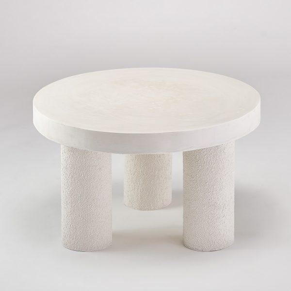 Ręcznie robiony stolik kawowy ecru