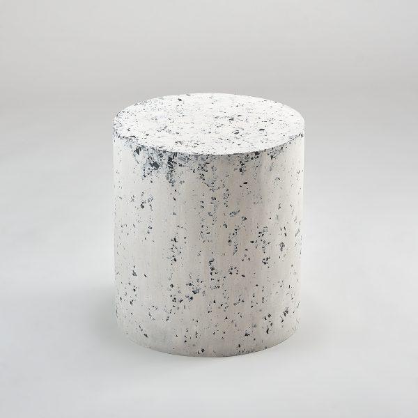 Stolik pomocniczy lastryko biało czarny