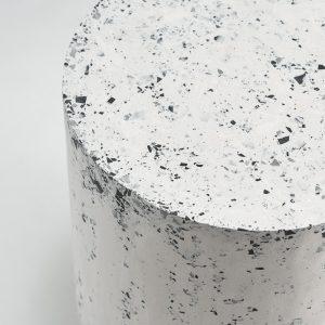 Stolik kawowy walec biało-czarny