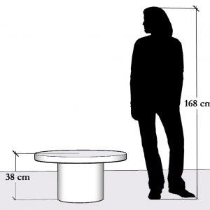 Wysokość dużego stolika kawowego