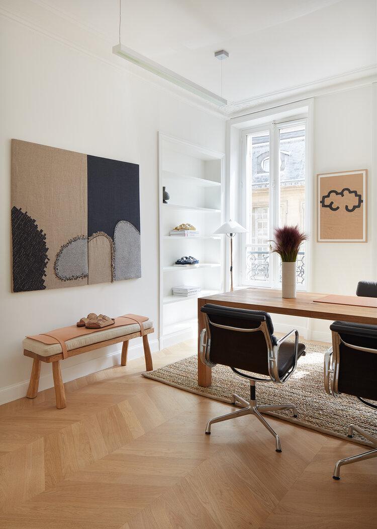 Domowe biuro w paryskim stylu