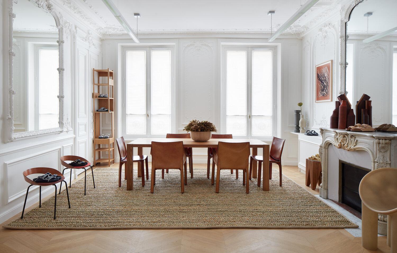 Salon z jadalnią w paryskim stylu